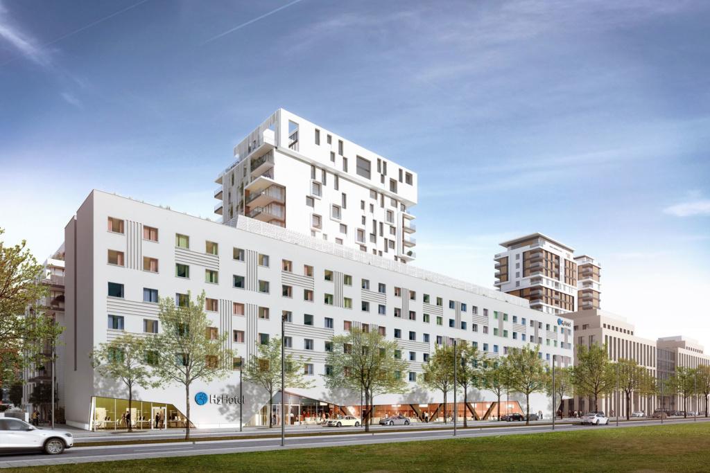Das Le Quatier Central in Düsseldorf Pempelfort. Das Projekt ist mit bema Gruppe entstanden.