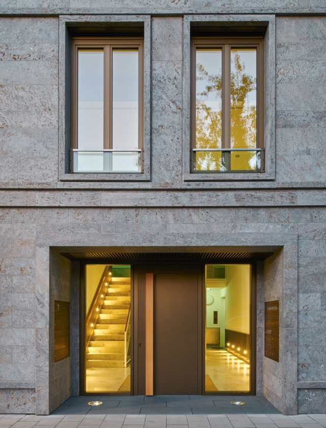 Auf der Wasserstraße in Düsseldorf steht das Wohngebäude das von der bema Gruppe realisiert wurde