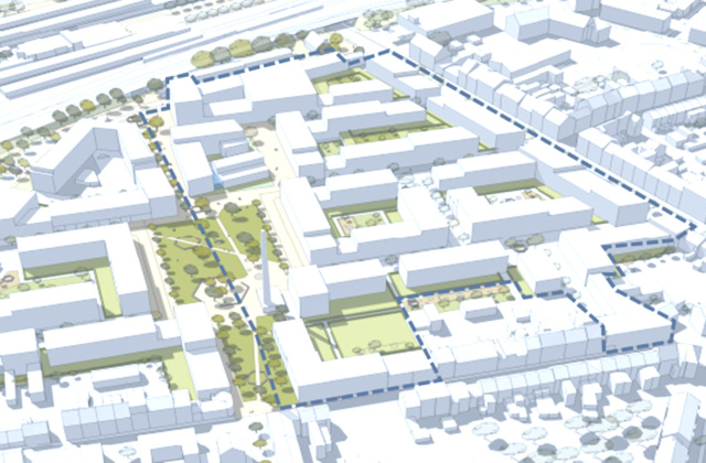 Energieeffizient: Quartiersentwicklung INBUS®VIERTEL Neuss