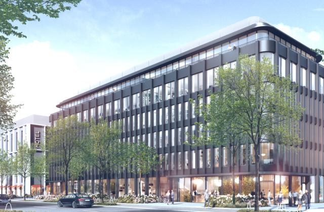 Umweltbewusst: TRIGON als Hotel- & Bürogebäude mit Parkhaus