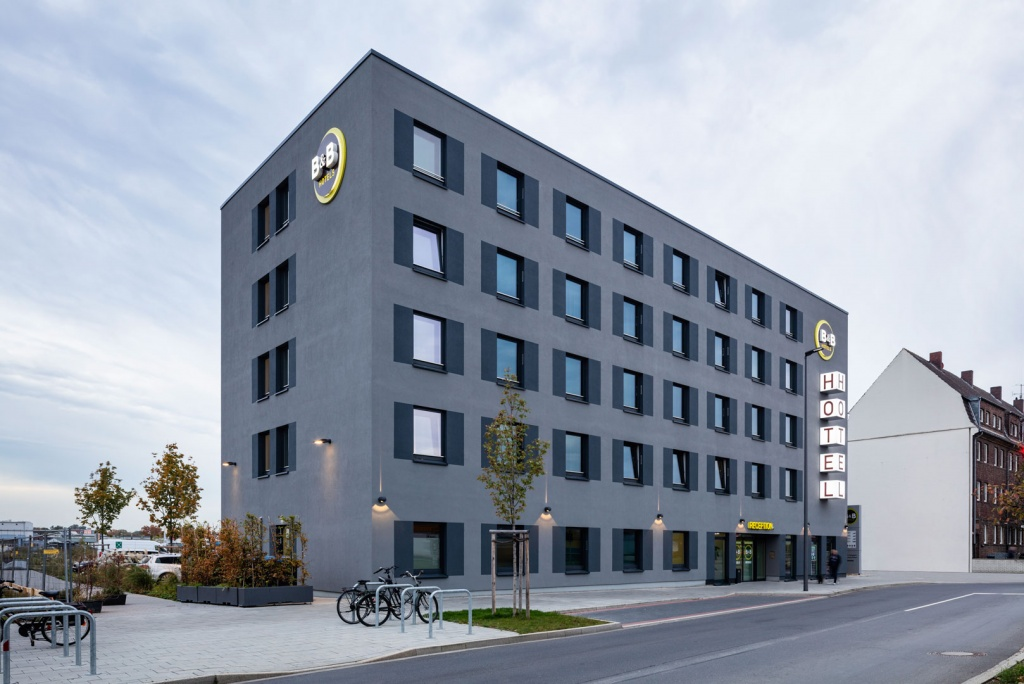 Das B&B Hotel in Neuss eines der größten bema Gruppe Projekte.