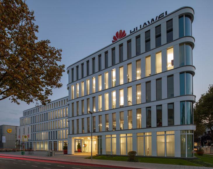 Das Bürogebäude Silizium in Düsseldorf wurde 2014 von der bema Gruppe fertiggestellt.