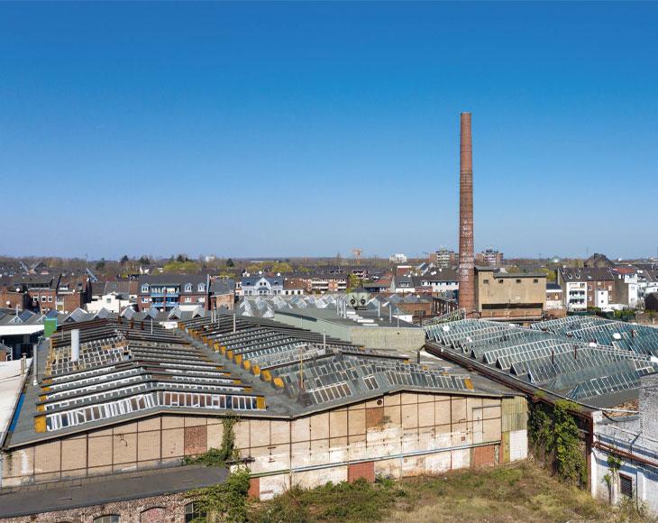 Zusehen ist das INBUS-Viertel, dass mit der Zusammenarbeit zwischen der bema Gruppe und der Stadtverwaltung Neuss geplant wird.