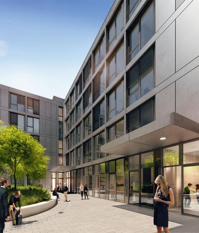 Bema Gruppe präsentiert: Das Smart Office in Düsseldorf, ein Bürogebäude in Zukunft.