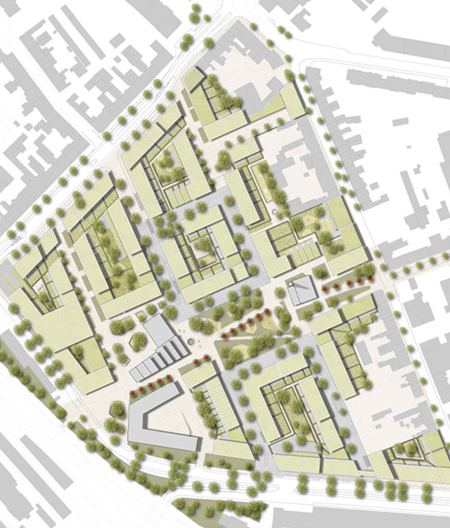 Zusehen ist die Karte wie das INBUS Projekt der bema Gruppe aussieht.