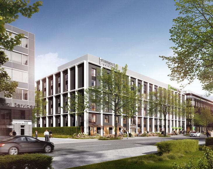 Das Bürogebäude auf der Schiessstraße wird in 2022 von der bema Gruppe realisiert.
