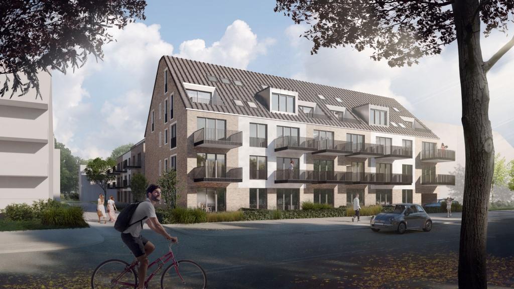 Ein wunderschönes Gebäude mit Blick auf dem gegenüber liegendem städtischem Tierpark. Die bema Gruppe arbeitet an einem Projekt auf der Uerdinger Straße in Krefeld-Bockum.